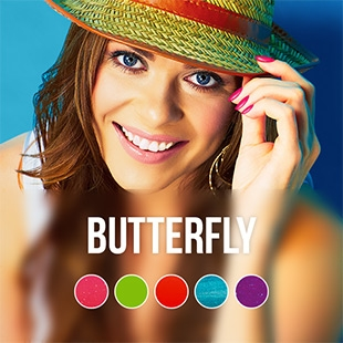 Butterfly gel nail polish colour collection