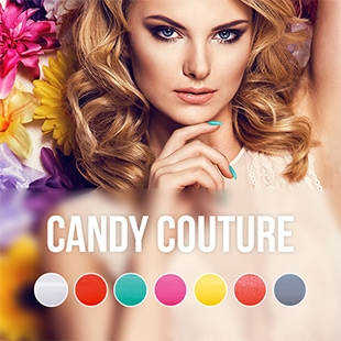 Pink Gellac Candy Couture collection colors