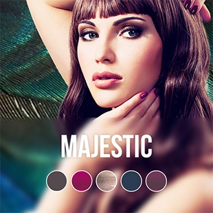Majestic gel nail polish colour collection
