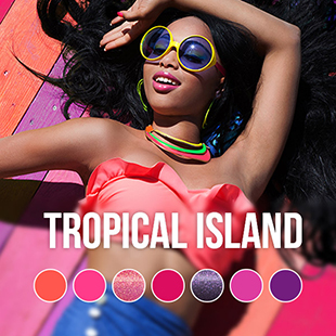 Tropical Island gel nail polish colour collection