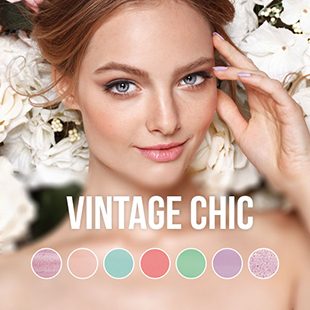 Vintage Chic gel nail polish colour collection