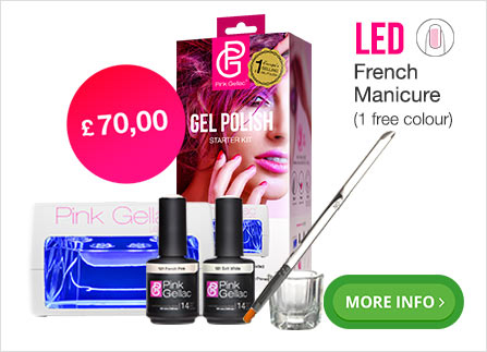 Pink Gellac French manicure kit for at home