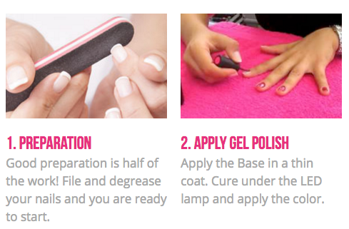 how to apply gel polish