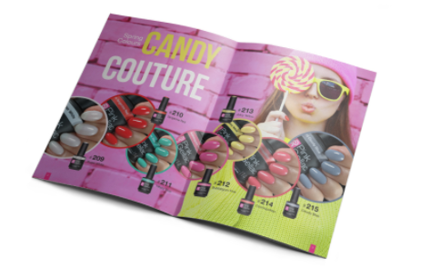 Disco Glam Candy Couture Nail Polish Magazine by Pink Gellac
